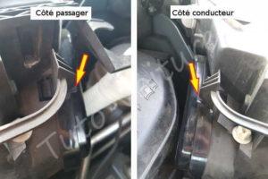 Ouvrir couvercle ampoule croisement - Citroën C4 Picasso - Tuto voiture