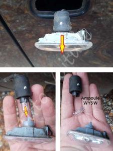 Changer ampoule indicateur direction - Audi A4 - Tuto voiture