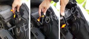 Enlever couvercle ampoule croisement - Citroën C4 Picasso - Tuto voiture