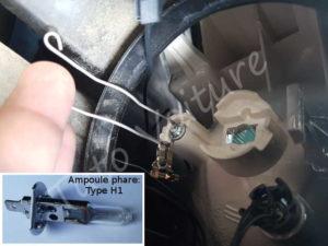 Changer remplacer ampoule feu phare - Citroën DS3 - Tuto voiture