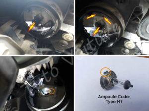 Changer remplacer ampoule feu de croisement - Citroën DS3 - Tuto voiture