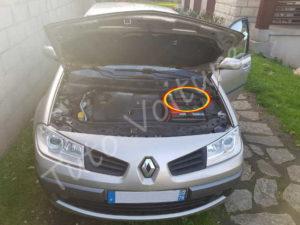 Emplacement filtre air - Renault Megane 2 - Tutovoiture