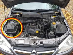 Ou se trouve boite filtre à air - Opel Corsa C - Tuto voiture