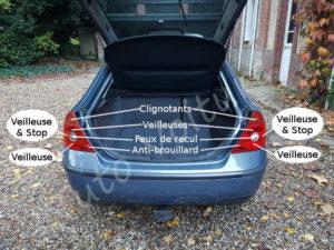Position des ampoules feux arrière - Ford Mondeo 3 - Tuto voiture