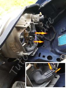 Débrancher connectique optique avant - Renault twingo 1 phase 2 - Tutovoiture