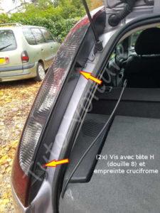 Fixation vis bloc feux optique arrière - Opel Corsa C - Tutovoiture