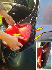Dépose optique arrière - Renault Clio 3 - Tuto voiture