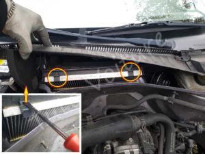 Changer filtre à pollen - Opel Corsa C - Tutovoiture