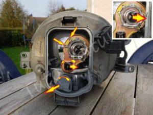 Optique avant - Renault Twingo 1 phase 2 - Tutovoiture