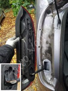 position bloc feux arrière - Opel Corsa C - Tutovoiture
