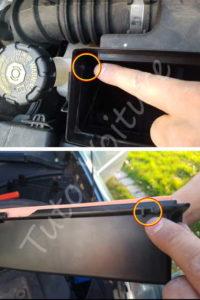 Remontage couvercle boîte filtre à air - Renault Clio 3 - Tutovoiture