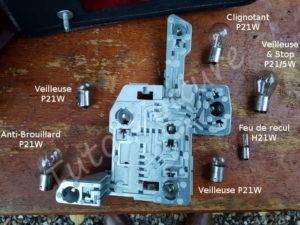 Position ampoules porte lampe arrière - Ford Mondeo 3 - Tuto voiture
