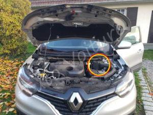 Emplacement du filtre à air - Renault Kadjar - Tutovoiture