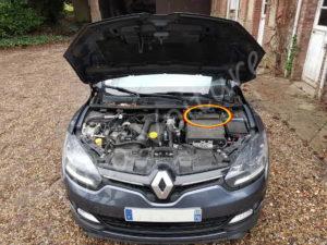 Position bloc filtre à air - Renault Megane - Tutovoiture