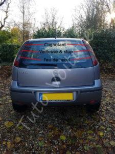 Position ampoule feux optique arrière - Opel Corsa - Tutovoiture