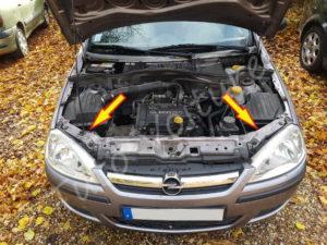 Emplacement accès aux ampoules feux veilleuse, croisement, de route - Opel Corsa C - Tutovoiture