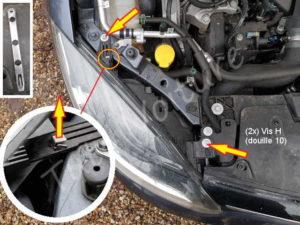 Sortir le bloc optique des feux avant -Renault Megane 3 - Tutovoiture