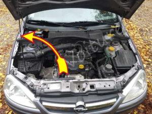 Barre de capot - Opel Corsa C - Tutovoiture