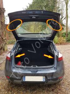 Emplacement des boîtes à ampoules - Renault Mégane 3 - Tutovoiture