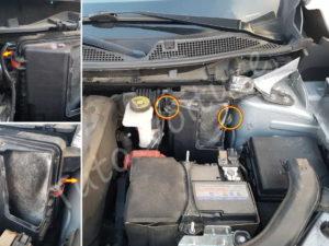 Fixation de la boite à air - Renault Kadjar - Tutovoiture