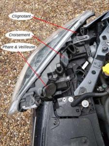 Localiser l'emplacement des ampoules - Renault Megane 3 - Tutovoiture