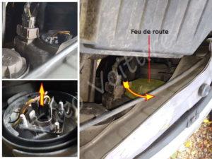 Ouvrir capot ampoule feux de phare - Opel Corsa C - Tuto voiture