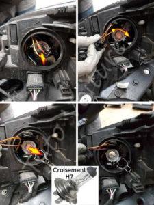 Changer son ampoule croisement - Renault Megane 3 - Tutovoiture