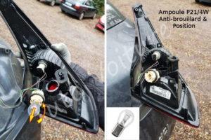 Changer l'ampoule grillée veilleuse et antibrouillard du feux arrière - Renault Mégane 3 - Tutovoiture
