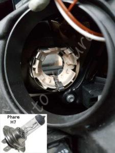 Échanger son ampoule de phare - Renault Megane 3 - Tutovoiture