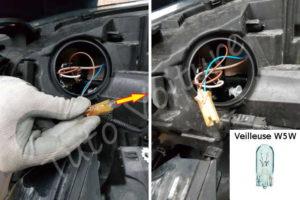 Changer son ampoule veilleuse - Renault Megane 3 - Tutovoiture