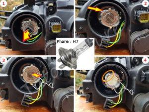 Changer votre ampoule grillé avant - Toyota Avensis 1 - Tutovoiture
