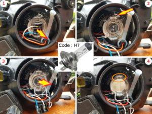 Changer votre ampoule grillé croisement avant - Toyota Avensis 1 - Tutovoiture