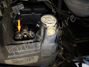 Tringle ressort ampoule phare - Audi A4 B6 - Tuto voiture