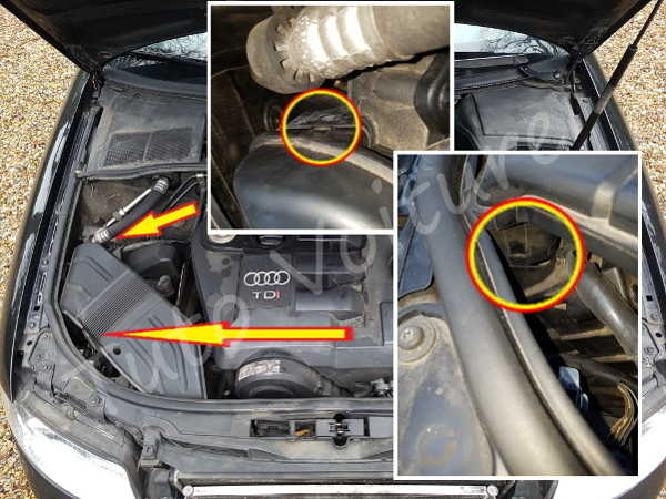 Sortir prise air - Audi A4 B6 - Tutovoiture