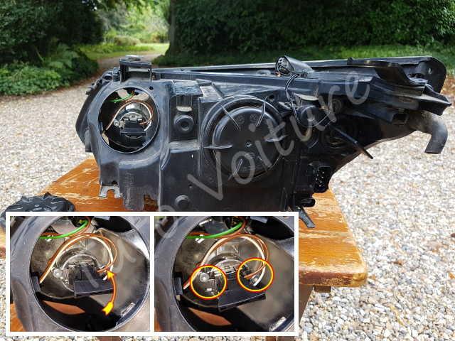 Kit reparation Patte de fixation phare optique gauche Bmw Serie 5 E60 E61