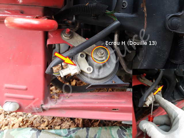 klaxon peugeot 206 comment changer son klaxon sur sa voiture. Black Bedroom Furniture Sets. Home Design Ideas