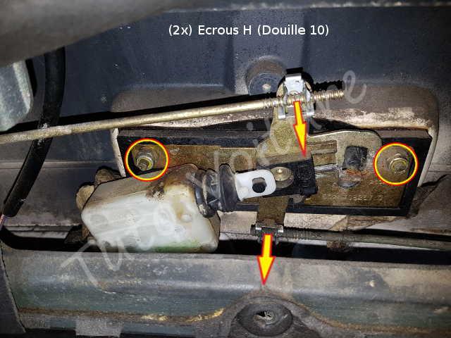Servo moteur de la serrure du coffre renault espace - Moteur de verrouillage de porte de voiture ...