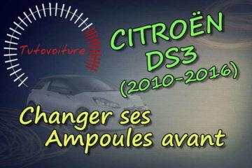 changer ses ampoules avant Citroën DS3