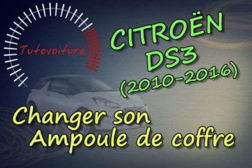 Changer son ampoule coffre Citroën DS3