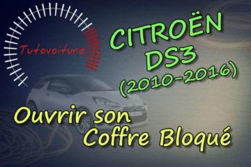 Comment ouvrir son coffre bloqué Citroën DS3