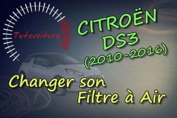 Remplacer son filtre à air Citroën DS3