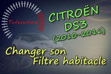Remplacer son filtre habitacle Citroën DS3