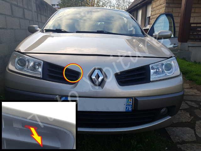 Ouvrir Capot Renault Megane 2