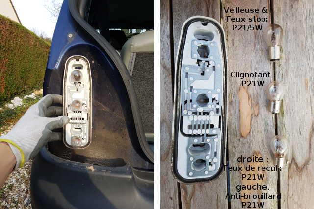 ampoule et bloc feux arri re d 39 une renault twingo comment les changer tuto voiture. Black Bedroom Furniture Sets. Home Design Ideas