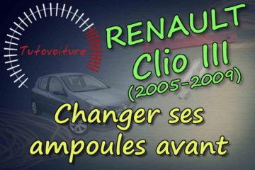 Tutoriel pour changer ses ampoules avant Renault Clio 3
