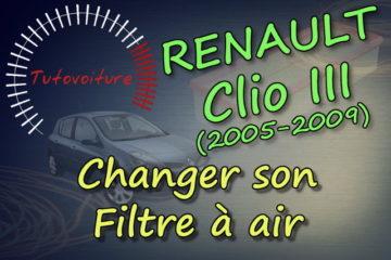 Tutoriel pour remplacer son filtre à air Renault Clio 3
