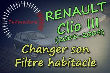 Tutoriel pour changer son filtre habitacle Renault Clio 3