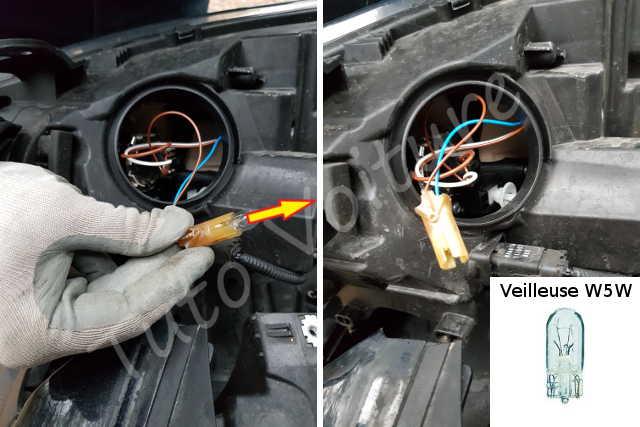 Ampoules avant d 39 une renault megane comment les changer for Changer ampoule garage