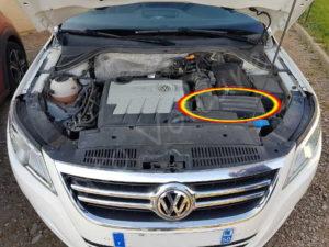 Emplacement filtre à air Volkswagen Tiguan phase 1 - Tutovoiture
