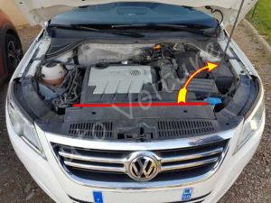 Ouverture capot Volkswagen Tiguan phase 1 - Tutovoiture